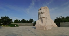 Timelapse Martin Luther King Jr Memorial Establishing Shot Stock Footage