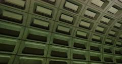 Foggy Bottom Metro Station Train Approaches Platform - stock footage
