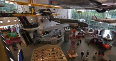 Smithsonian Air and Space Museum Interior Establishing Shot Stock Footage