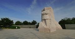 Martin Luther King Jr Memorial Establishing Shot Stock Footage