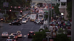 Shot of busy traffic intersection in vegas. - stock footage