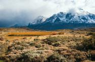 Stock Photo of Autumn in Patagonia. The Torres del Paine National Park