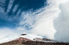 Cotopaxi volcano over the plateau, Andean Highlands of Ecuador, South America Stock Photos