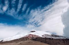 Cotopaxi volcano over the plateau, Andean Highlands of Ecuador, South America - stock photo