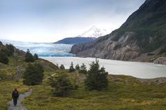 Lago Grey and Grey Glacier Torres del Paine National Park Chilean Patagonia Stock Photos