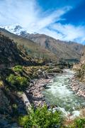 Urubamba Sacred Valley in Peruvian Andes Stock Photos