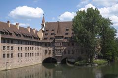 HeiligGeistSpital hospital Nuremberg Middle Franconia Bavaria Germany Europe - stock photo