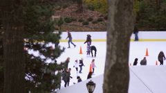 Shot of skating rink with orange cones. Stock Footage