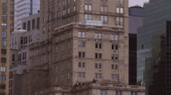 Panning shot of architecture in New York City. Stock Footage