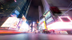 Times Square time lapse looking down 7th Ave Stock Footage