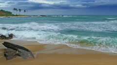 Sea stormy landscape in Indian ocean 4k Stock Footage