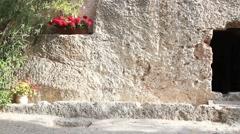 Garden Tomb Jerusalem, Israel Stock Footage