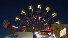 Ferris Wheel at Dusk Stock Footage