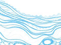 Vector dotted illustration Stock Illustration