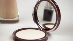 Various make-up products. - stock footage