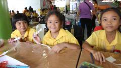 Children showcases proud Stock Footage
