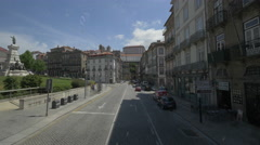 Driving on Infante D. Henrique Street in Porto Stock Footage
