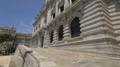 The facade of the Porto City hall building Stock Footage