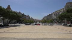 Afternoon in Plaza General Humberto Delgado in Porto Stock Footage