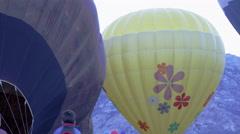 Assorted hot air balloons in Utah County, Utah. - stock footage