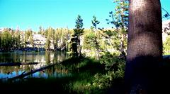 Mountain Lake Tree Shadows Timelapse Stock Footage
