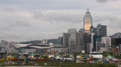 Whole View of wan chai hong kong. Stock Footage
