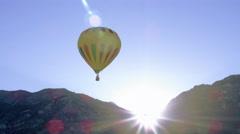 Shot of assorted hot air balloons in Utah County, Utah. - stock footage