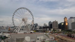 The Hong Kong Observation Wheel Stock Footage