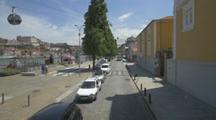 Driving on Ramos Pinto Avenue in Porto Stock Footage