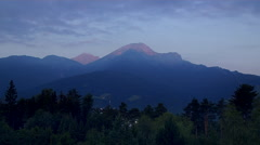 Time Lapse Day Break at a  Mountain Resort Stock Footage