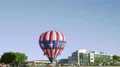 Shot of an assortment of hot air balloons in Utah County, Utah. - stock footage