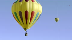 Shot of an assortment of hot air balloons in Utah. Stock Footage