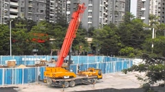 Stock Video Footage of Shenzhen subway construction in China