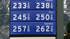 Gas price sign in Provo, Utah. Stock Footage