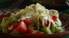 Fresh Green Salad Stock Footage