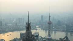 4k timelapse aerial view of Shanghai city, China Arkistovideo