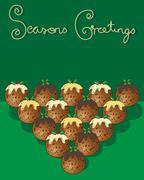 festive food - stock illustration