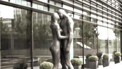 Adam & Eva statues Stock Footage