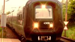 Train Passing by 1 Stock Footage