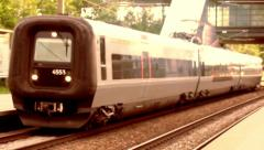 Train Passing by 3 Stock Footage