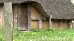 Medieval house Stock Footage