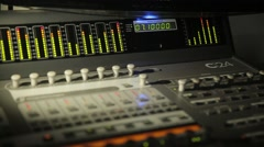 Digital Sound Mixer In The Studio - stock footage