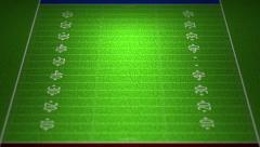 4K American Football Field 1 - stock footage