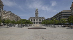 Best view of Porto City Hall Stock Footage