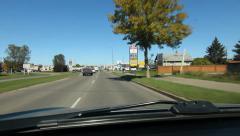 Autumn drive through Brandon, Manitoba. Stock Footage