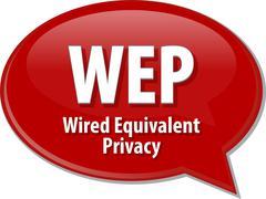 WEP acronym definition speech bubble illustration - stock illustration