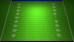 4K American Football Field Zoom Out 4 - stock footage
