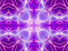 Stock Illustration of Ethnic pattern. Abstract kaleidoscope  fabric design.