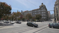 Afternoon on Aliados Avenue in Porto Stock Footage