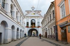 Stock Photo of Chapel with Our Lady of Gate of Dawn at Holy Gate (Gate of Dawn), Vilnius